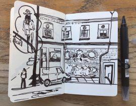 My Moleskine Art Plus pocket size sketchbook: my daily life