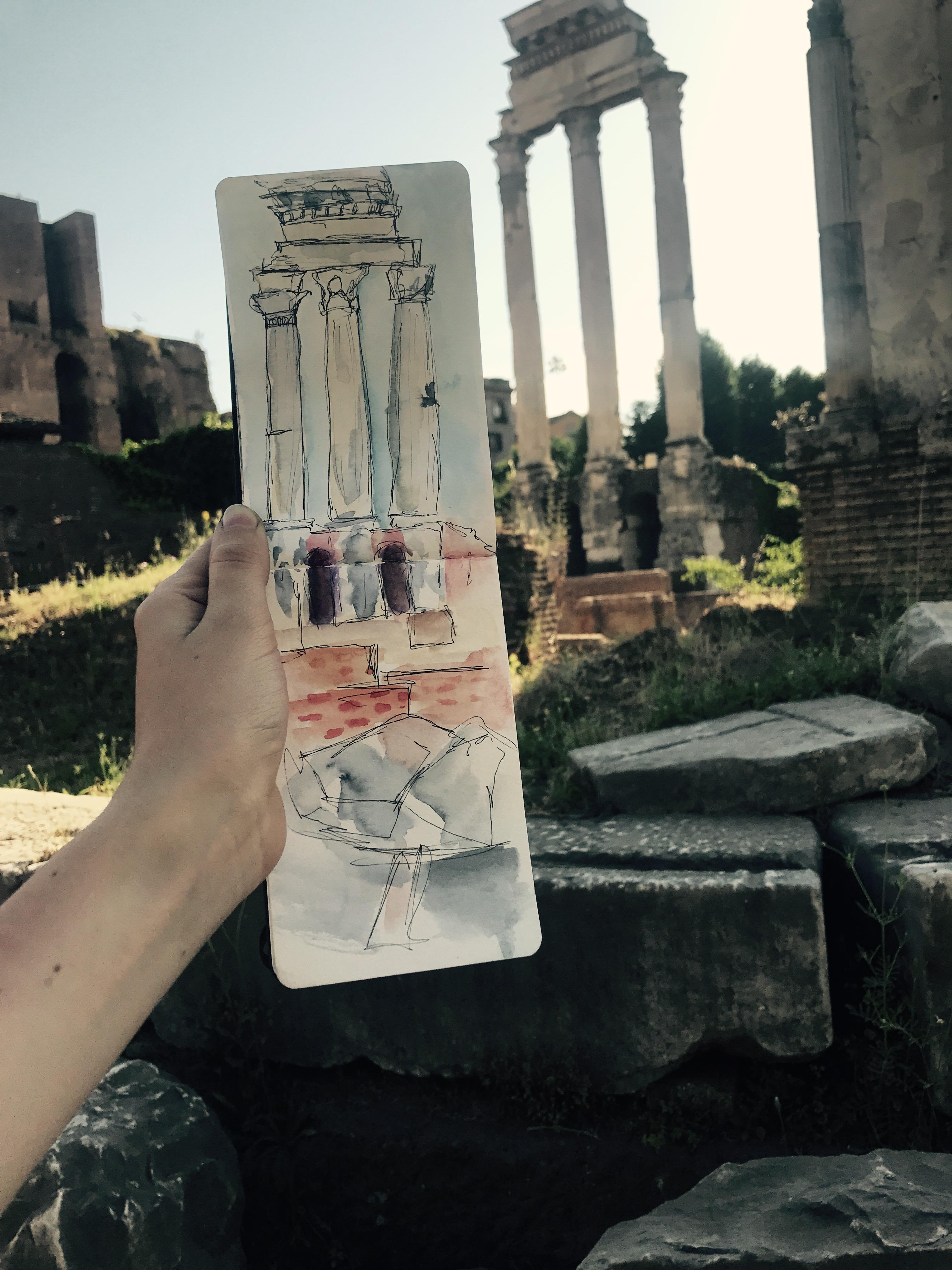 Columns at The Roman Forum