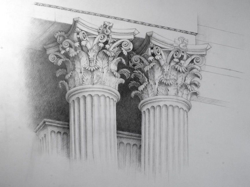 Greek Architecture Drawings Ancient Greek Architecture ...
