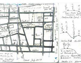 A Hand drawn Map of Historic Petersburg, VA