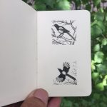 3x3cm drawings at xs Notebook