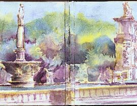 The University of Santo Tomas Fountains and Arch of the Centuries