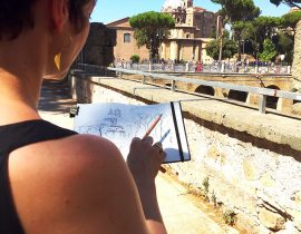 Sketching the Fori Imperiali