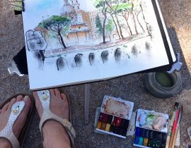 Sketching in Rome: Fori imperiali