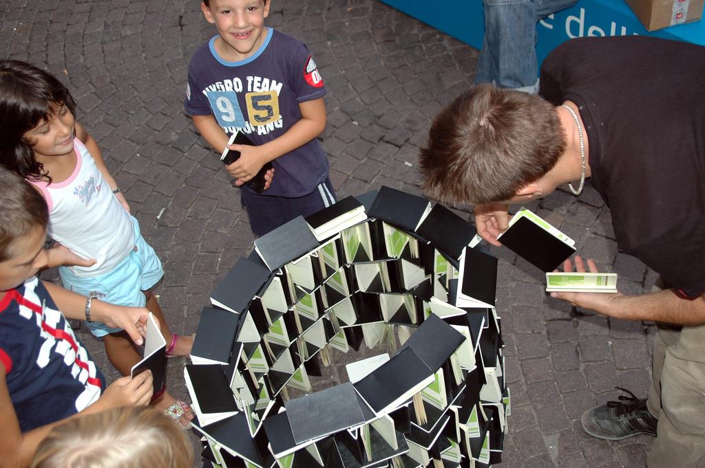 Moleskine tower @ Festivaletteratura Mantova