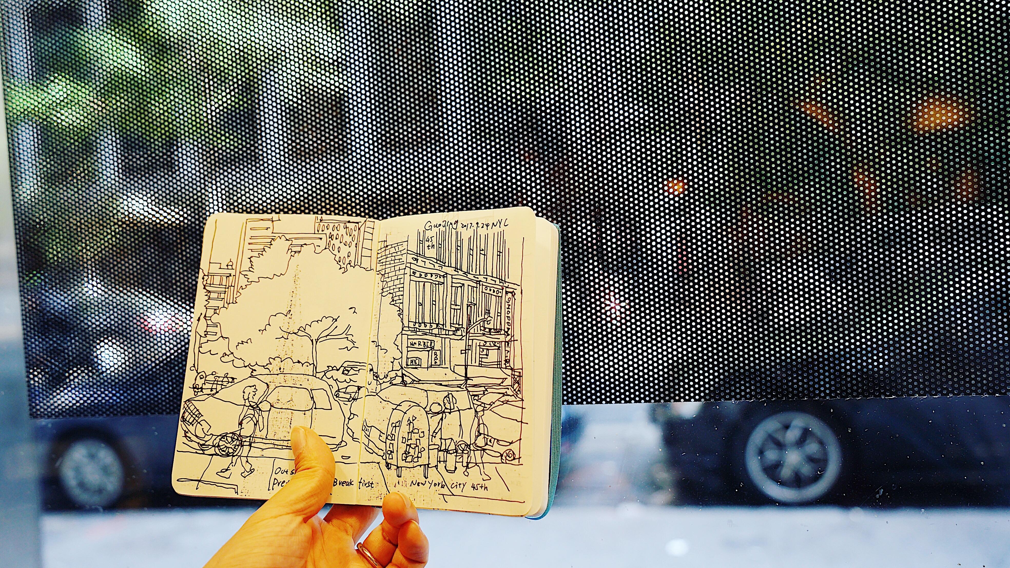 Sketching at street