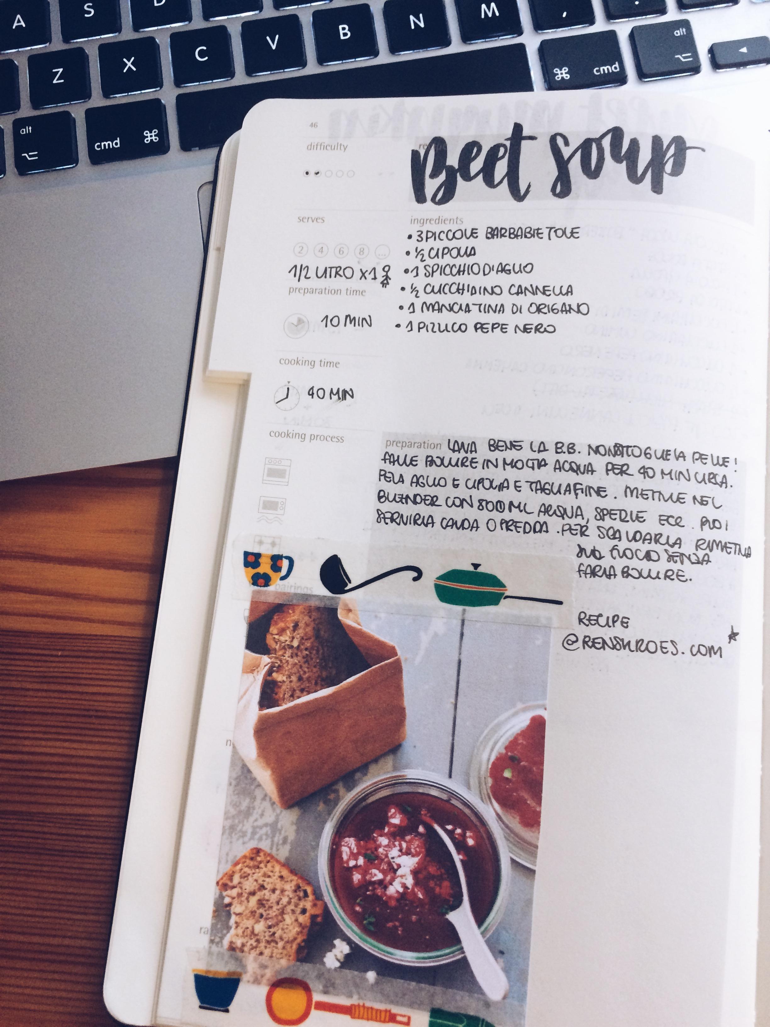 Recipes calligraphy