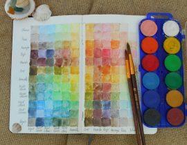 Watercolour chart