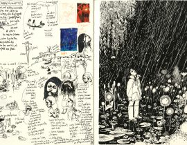 Moleskine A4 – research for the novel Sweet Clover Flowers