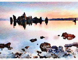 in lagoon