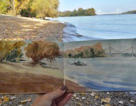 Autumn along the river Danube