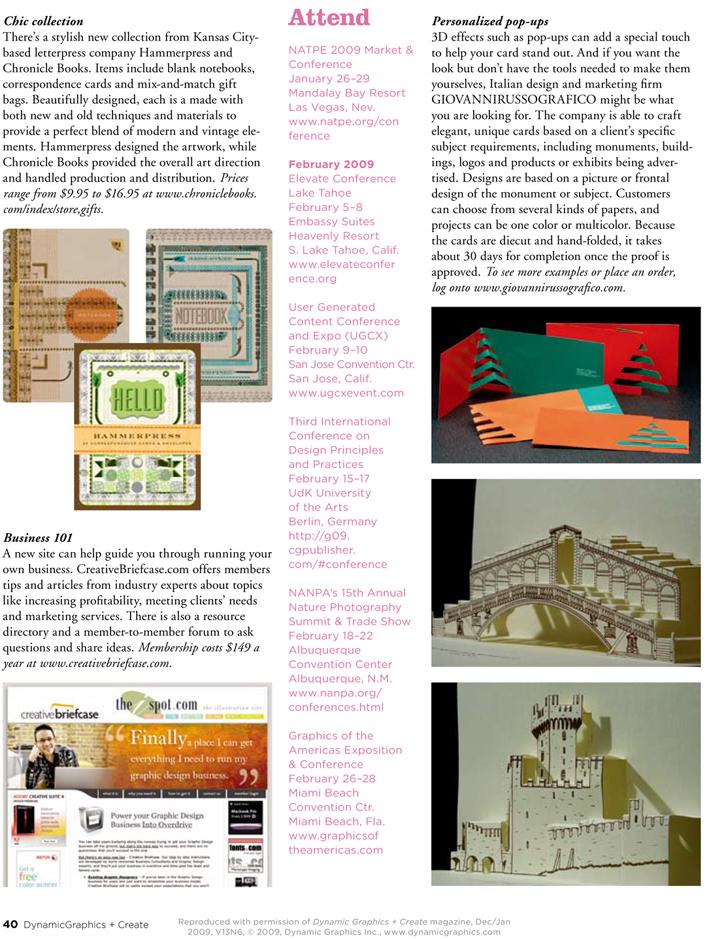 Article on DYNAMIC GRAPHICS Magazine, USA