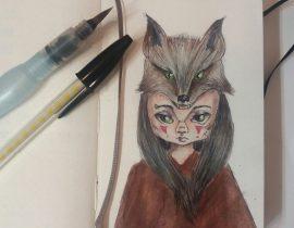 Inktober werewolf