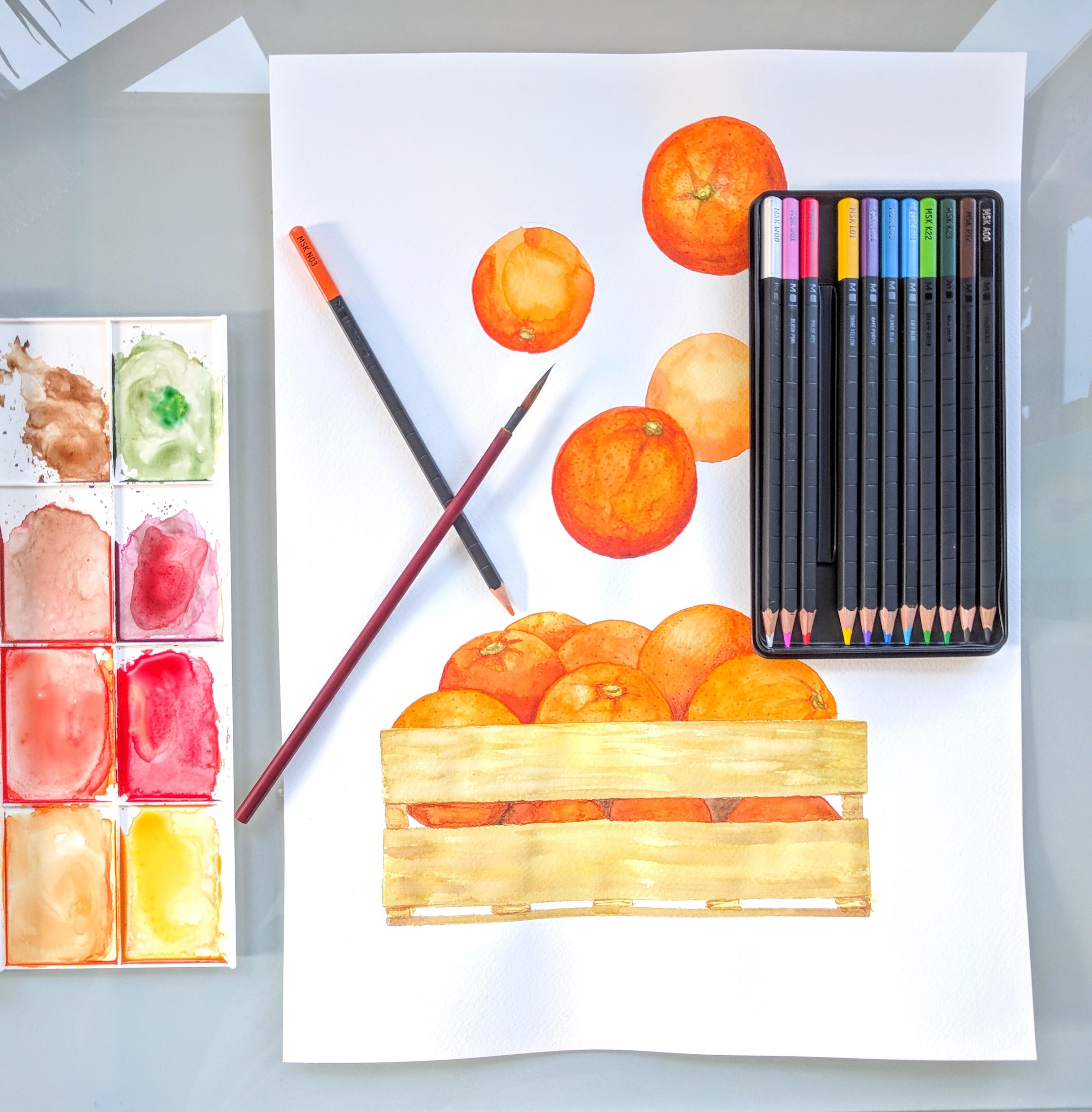 New Moleskine watercolor pencils