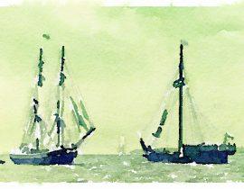sails furled
