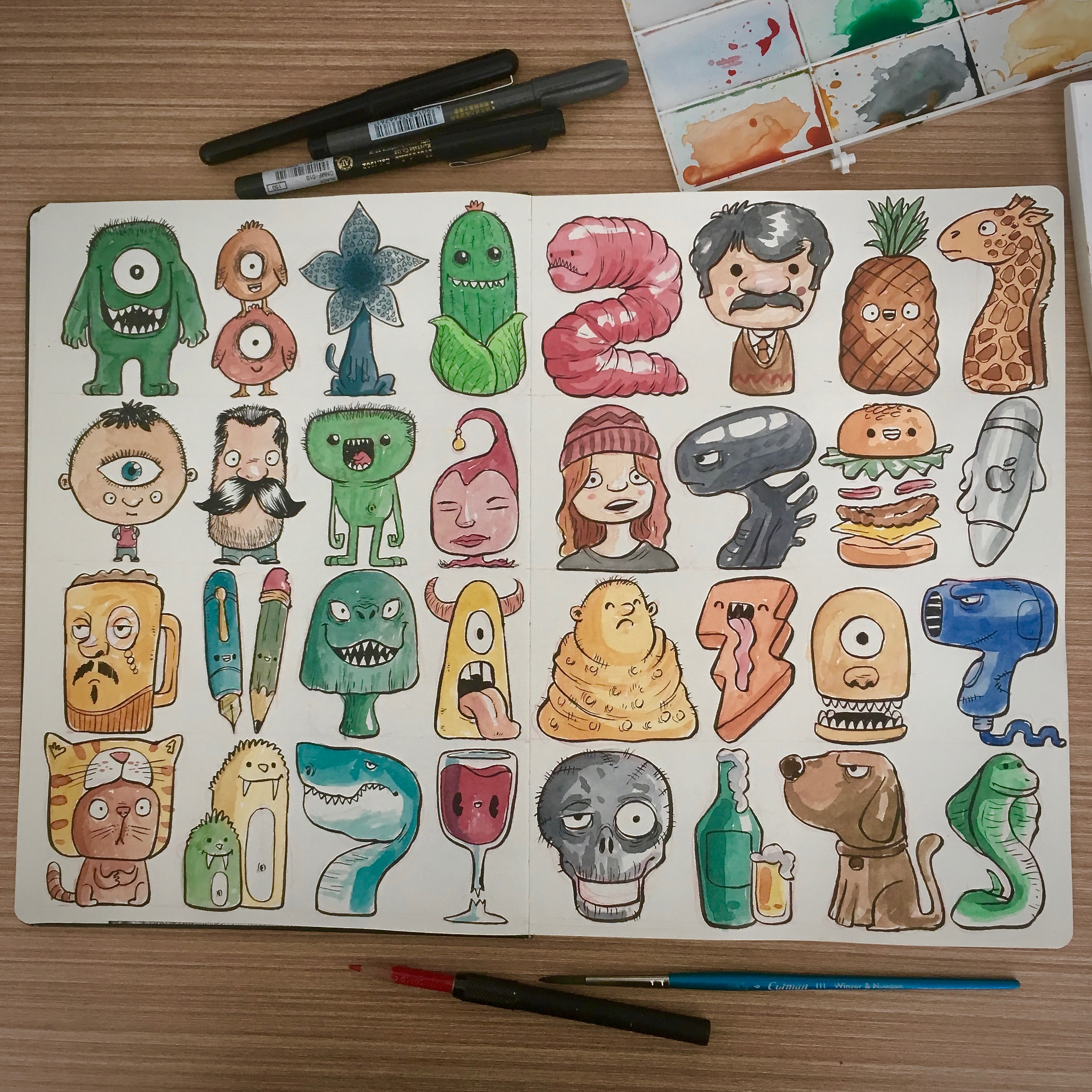 Line Up Characters