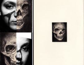 "FJ 3rd Moleskine Sketchbook – Miniature 005 ""Custom Skull"""
