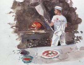 pizzaiolo di Mercato Centrale di Firenze