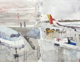 Boston Airport. USA