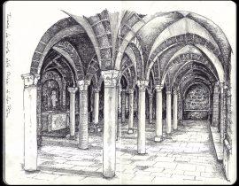Tuscania (Italy) – La Cripta della Chiesa di San Pietro