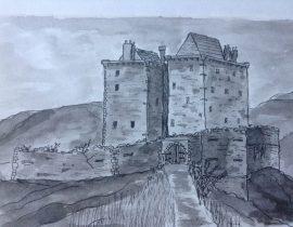 Borthwick castle at 1800's