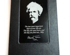 Mark Twain Laser Engraved Metal Plate