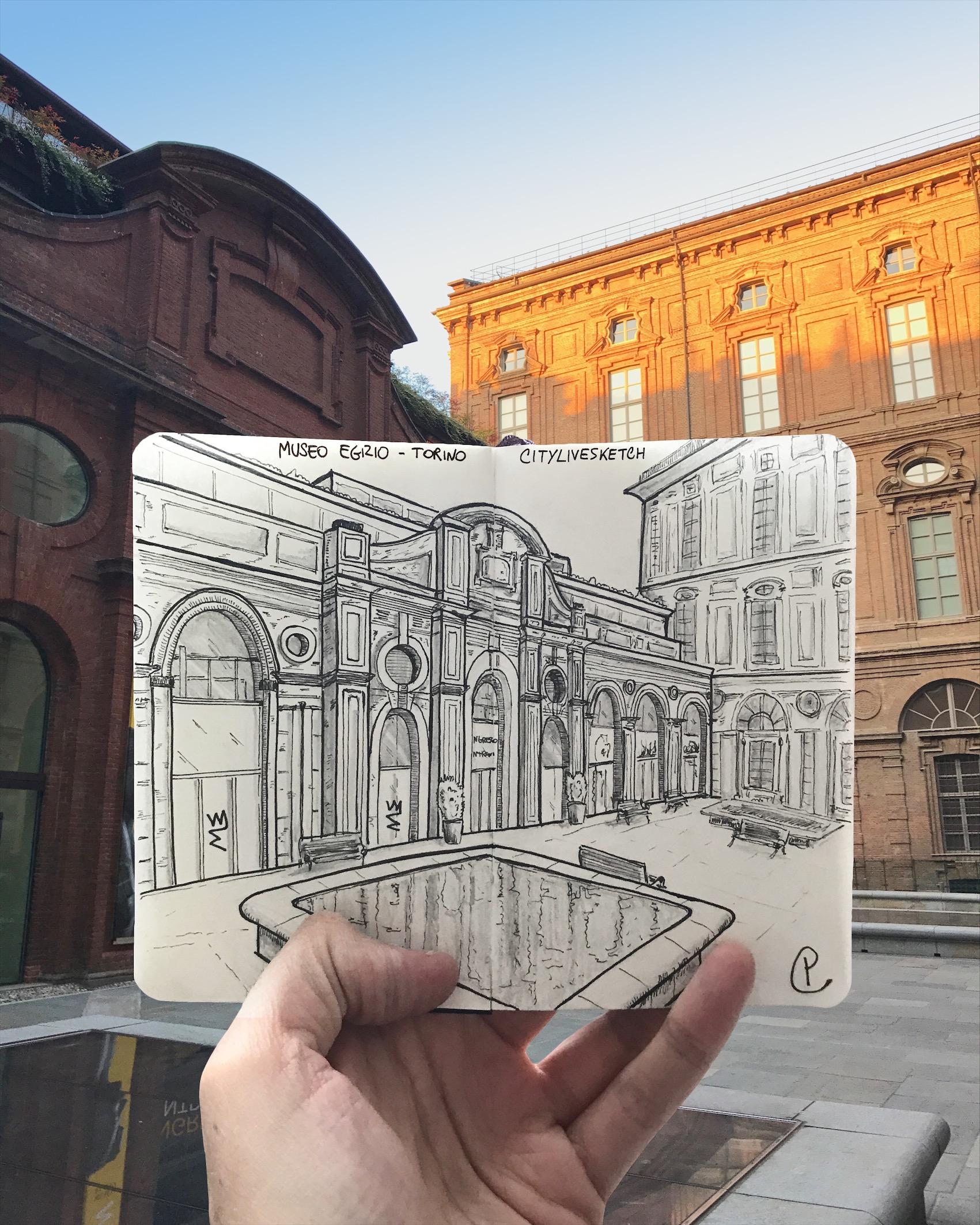 Museo Egizio (Torino) Live Sketch – @CityLiveSketch