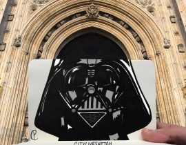 Darth Vader in Westminster (London) – @CityLiveSketch