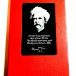 Mark Twain Laser Engraved Metal Plate