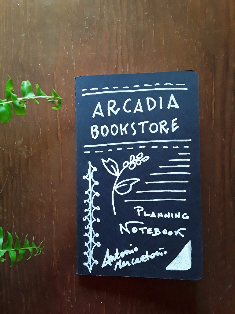 Arcadia Bookstore's notebook