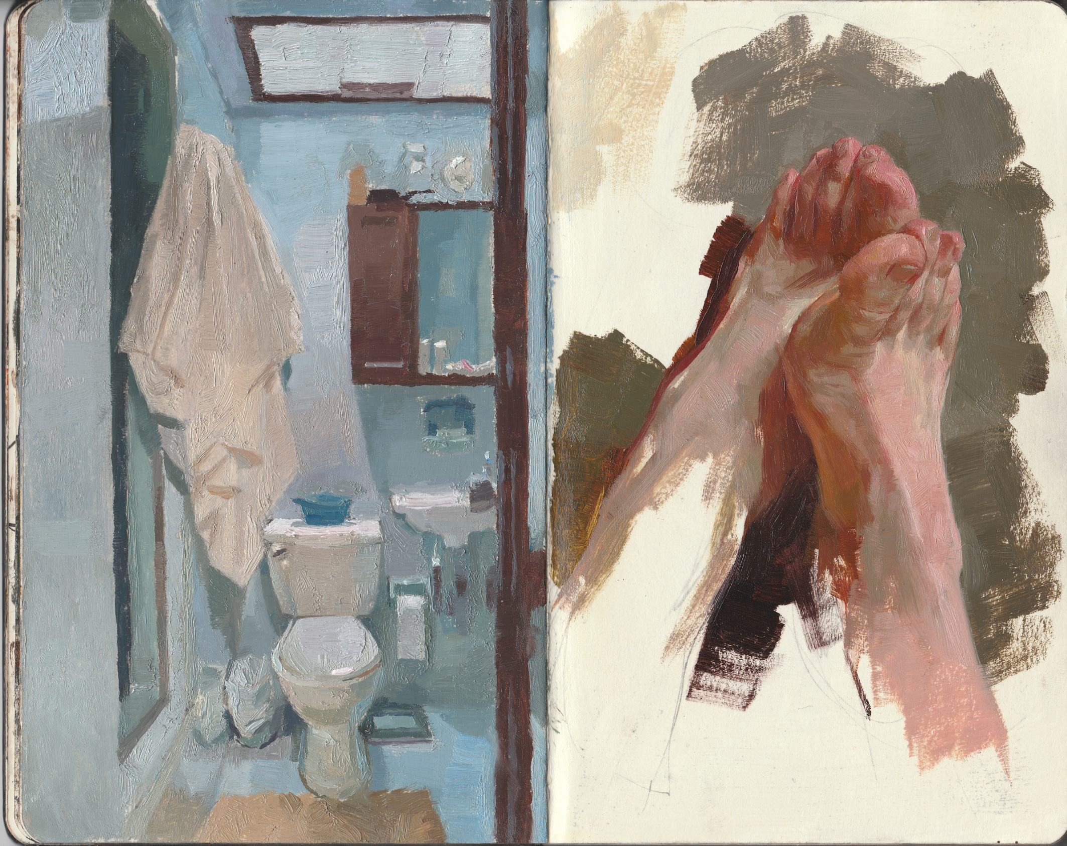 Bathroom and Feet