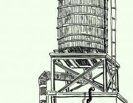 Water tower, Brooklyn, NY