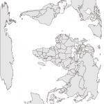 Vertical World Map