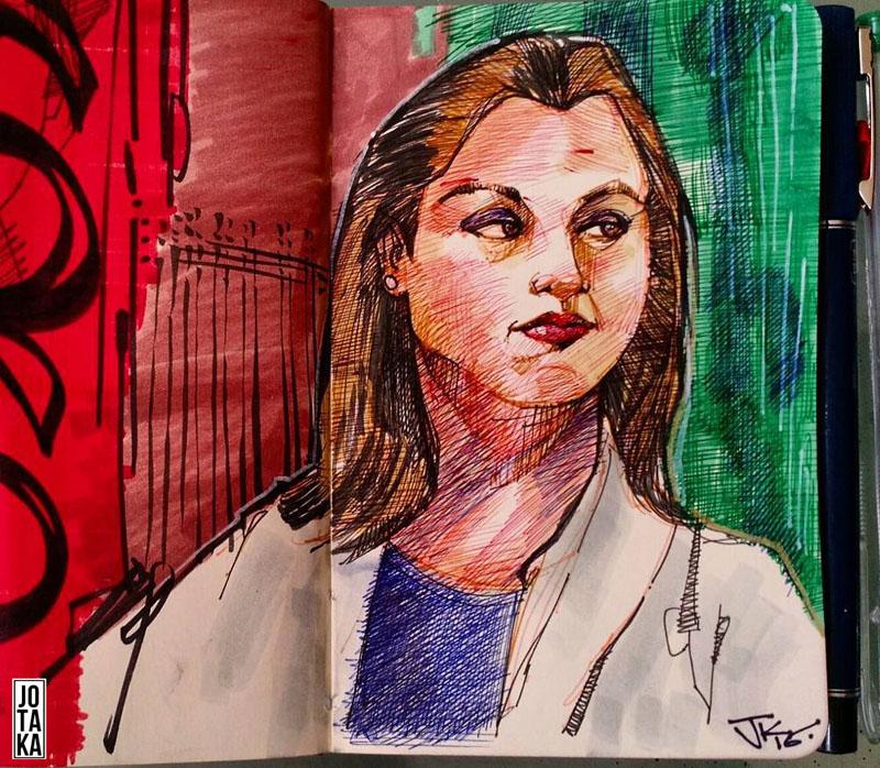 portrait peruvian female