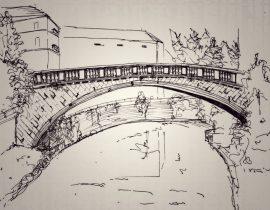 Old and new bridge, Bosnia-Herzegovina