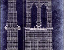 Schematic of Brooklyn Bridge