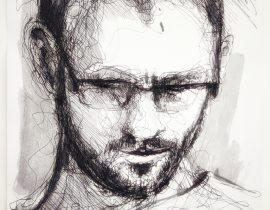 Study on man's face