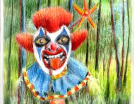 Happy the old dead forrest Clown