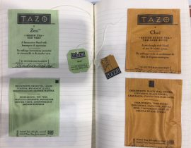 Tea tags with the cover
