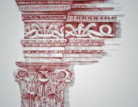 Detail of classic Greek architecture