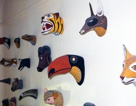 Carved Animal Heads