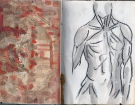 Musicians and Torso in Ink