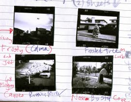 Four Photographs from Contact Sheet