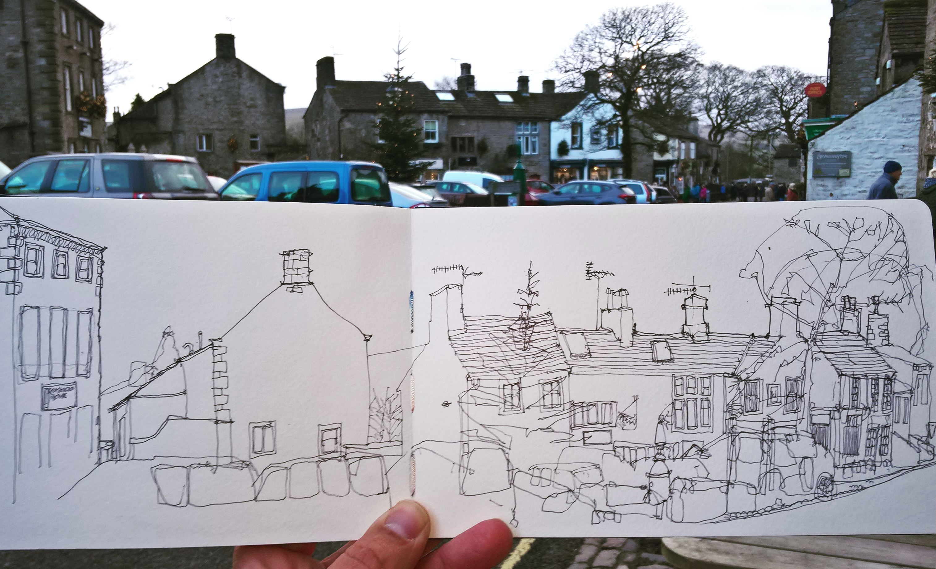 Grassington Village, New Year's Eve