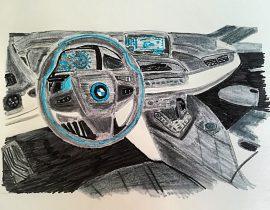 Interno BMW i8