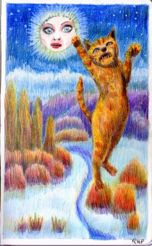 Luner Moon Cat Jumping