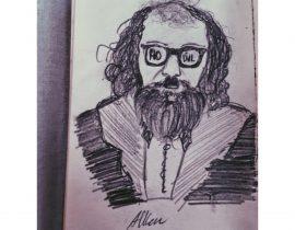 Allen Ginsberg ) sketch portrait