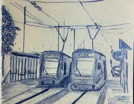 Capolinea del Metrobus, Padova Italia