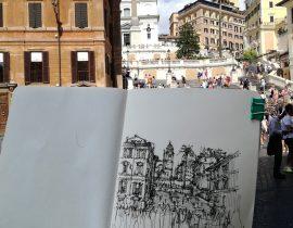 Sketch Piazza di Spagna