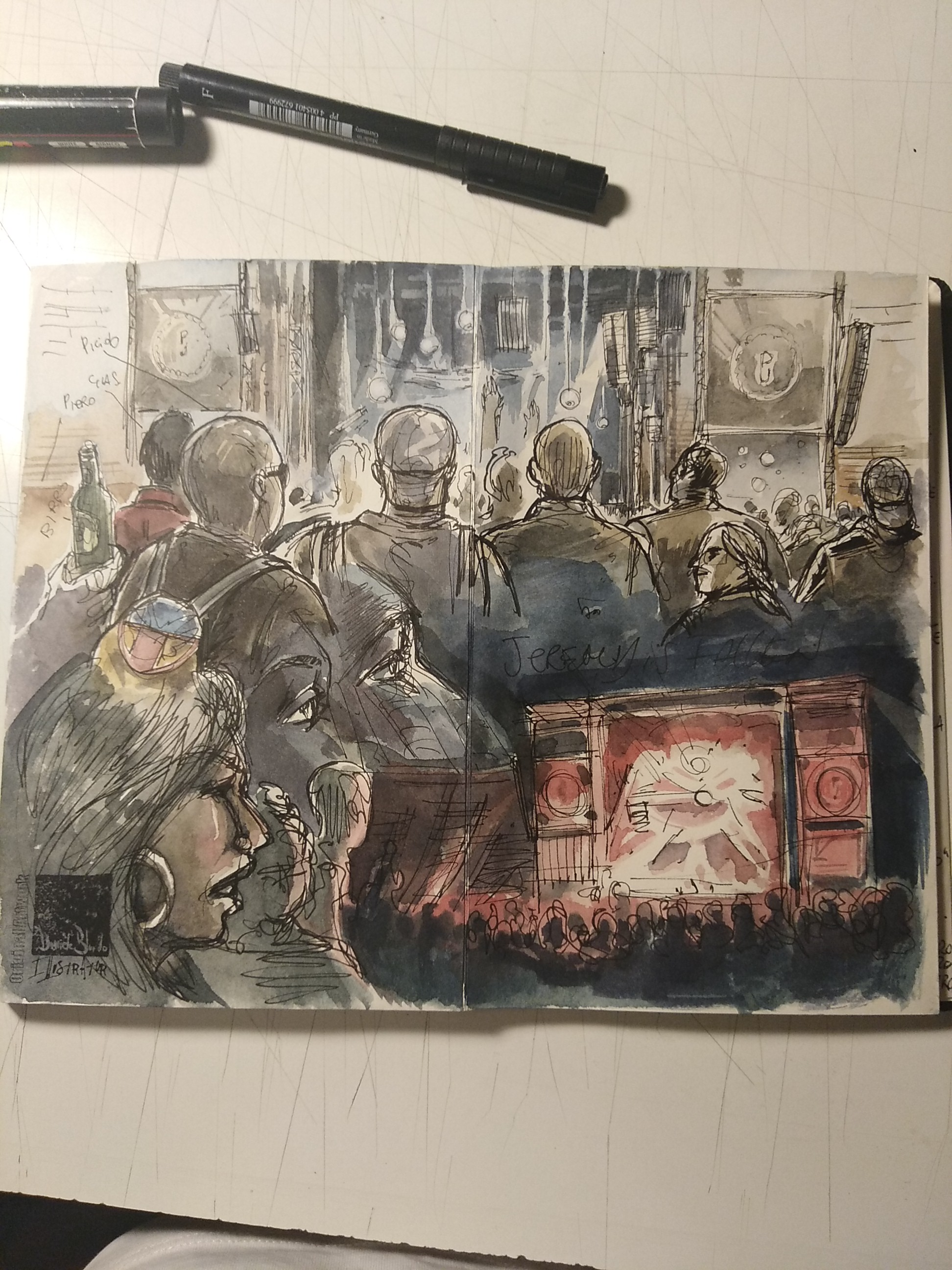 Pearl Jam live sketch during Rome Show